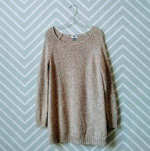 Old Navy tan ivory knitted long sweater